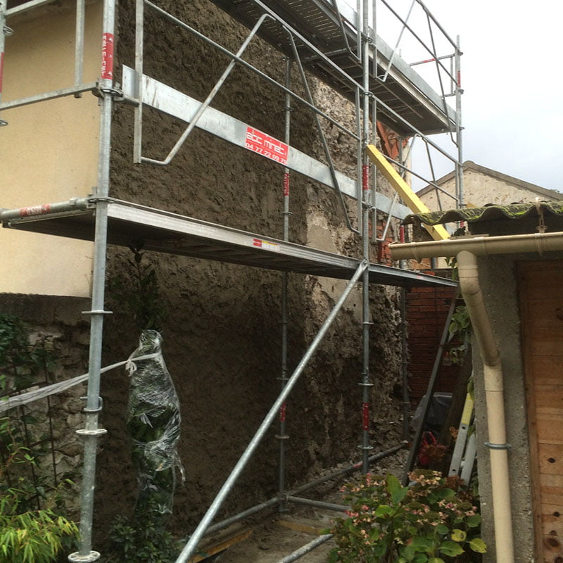 Travaux de ravalement - Renovation mur ancien interieur ...