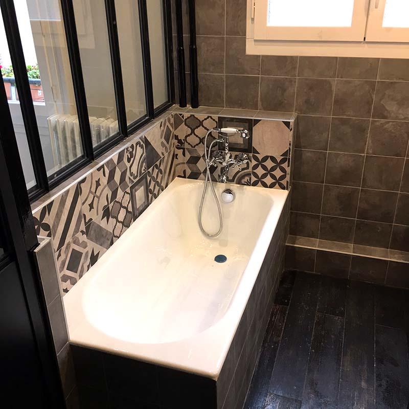 Am nagement d 39 une salle de bain et d 39 une chambre paris 16 drop Salle de bain chez lapeyre