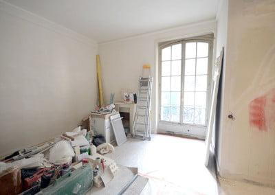 Travaux de rénovation dans un appartement