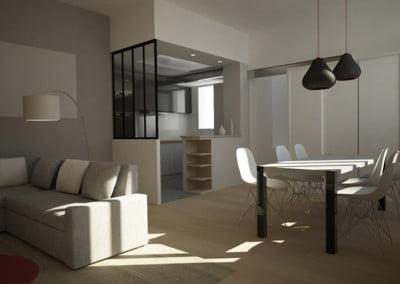 Aménagement d'un logement de 68 m2 à Paris