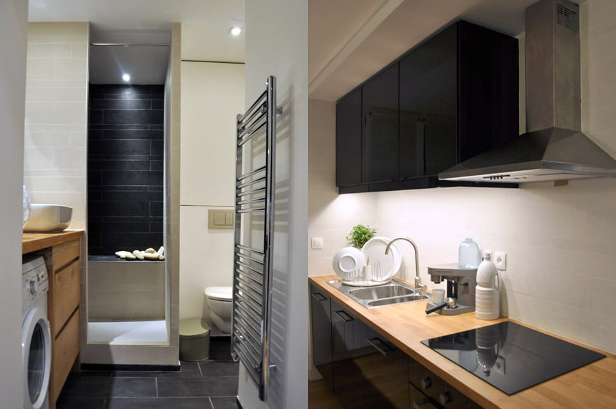 travaux de r novation d 39 un appartement de 55 m2 paris. Black Bedroom Furniture Sets. Home Design Ideas
