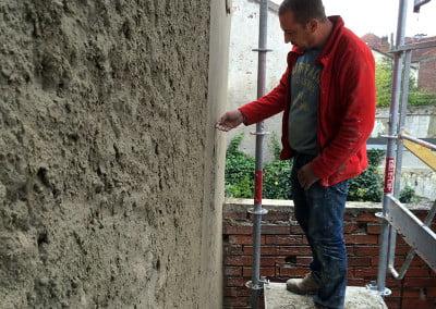 Lissage du ciment, vérification