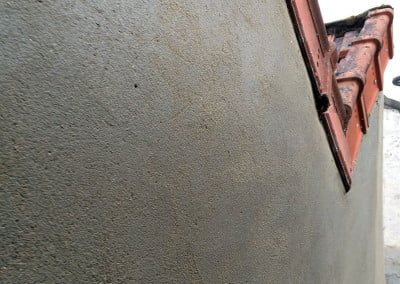 Ravalement ciment brut lissé