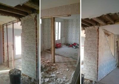 Travaux de démolition pour rénovation