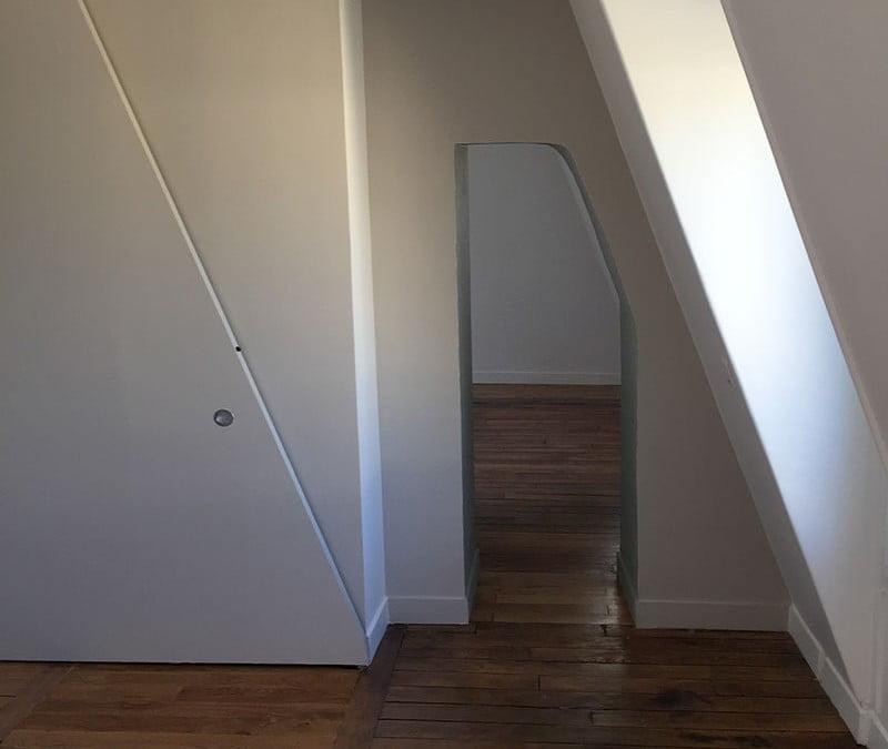 Travaux d'aménagement de trois chambres de bonne, Paris 17
