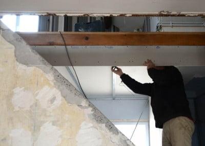 Pose d'un faux plafond et BA13