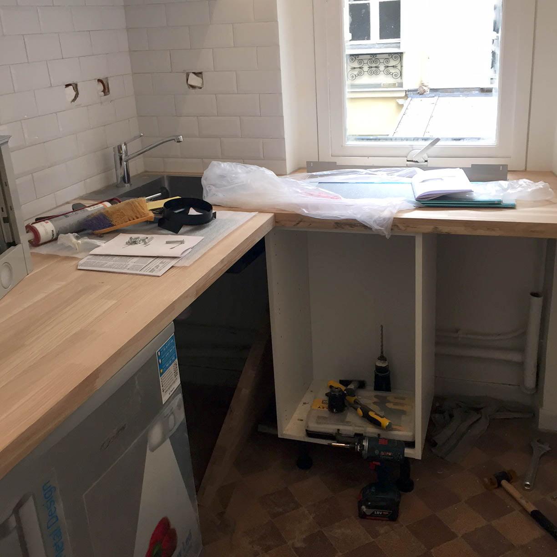 R novation d 39 un appartement paris 11e drop for Materiel de cuisine paris