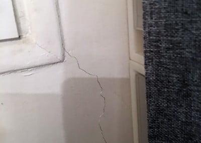 Fissure des murs