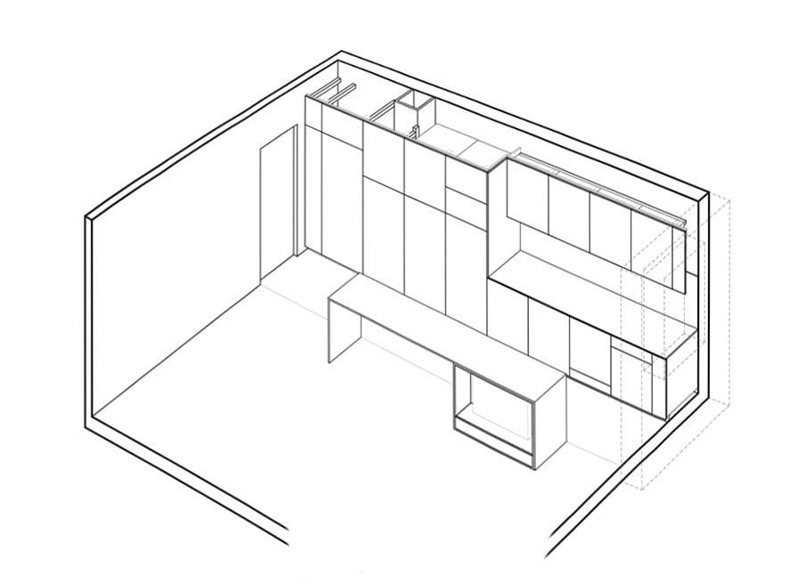 Travaux d'aménagement d'un appartement de 45 m2 à Paris 17