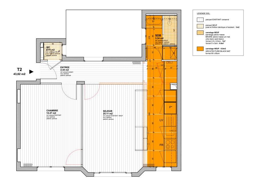 Travaux d'aménagement d'un appartement paris 17e