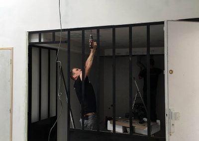 Travaux d'aménagement du loft-atelier à Montreuil