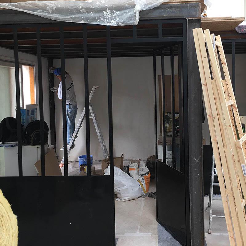 Travaux de rénovation d'un atelier loft à Montreuil
