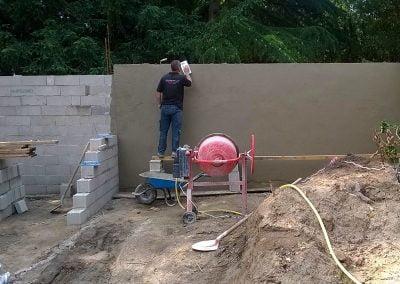 Enduit de lissage du mur extérieur