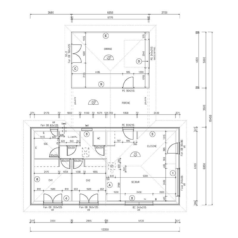 Maison contemporaine à ossature bois, noire & blanche