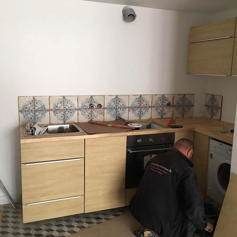 Travaux d'aménagement de cuisine à Montreuil