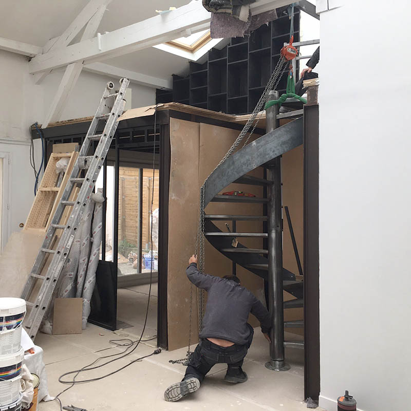 Travaux d'aménagement du loft atelier à Montreuil