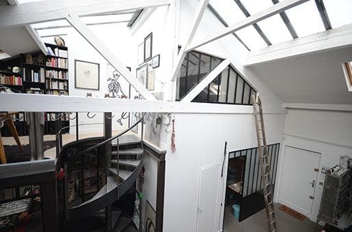 Rénovation d'un loft-atelier d'artiste à Montreuil