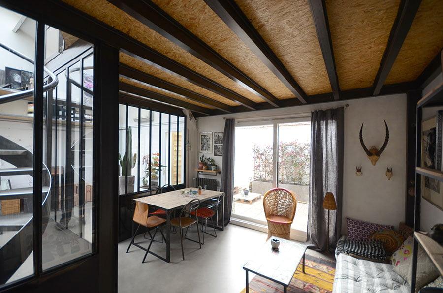 Travaux de r novation d un loft atelier d artiste montreuil for Loft a renover region parisienne
