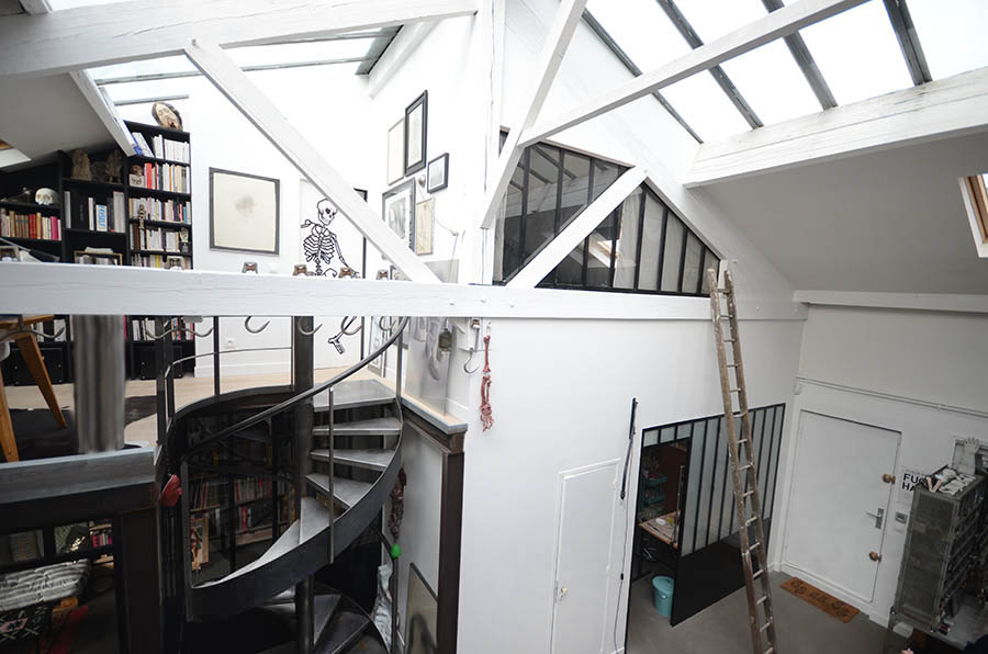 Aménagement d'un appartement dans un ancien atelier à Montreuil