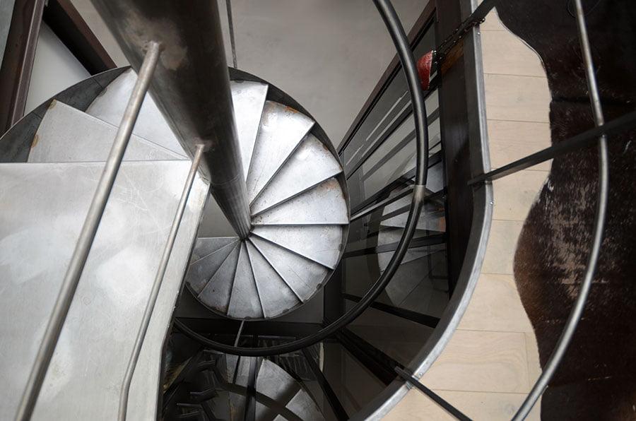 Fabrication d'un escalier en colimaçon