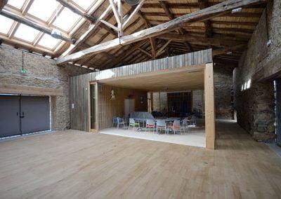 Construction extension ossature bois