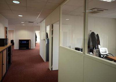 Aménagement de bureaux avec des cloisons modulaires à Argenteuil
