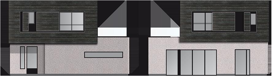 maison contemporaine en bois mod le drop 126. Black Bedroom Furniture Sets. Home Design Ideas