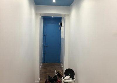 Peinture du couloir par les clients