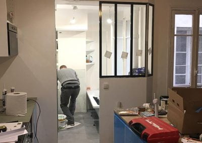 Finition de la salle de bain