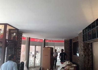 Effet de laque au plafond