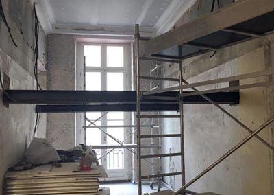 Structure acier de la mezzanine