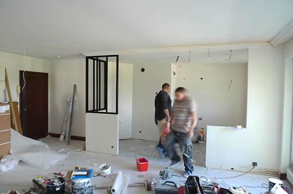 D coration d 39 un appartement montmorency cuisine for Travaux cuisine ouverte