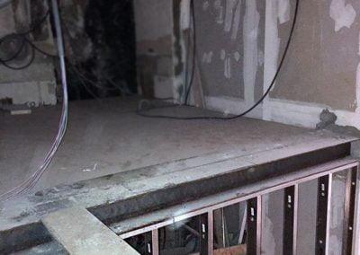 Pose des façades atelier en acier