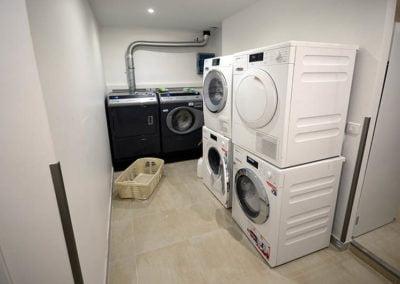 Aménagement de la laverie de l'hôtel