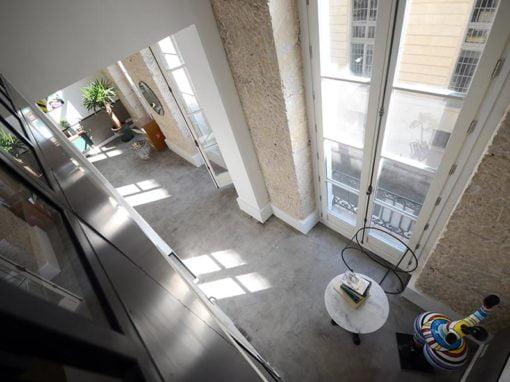 Aménagement de trois espaces avec mezzanine à Paris