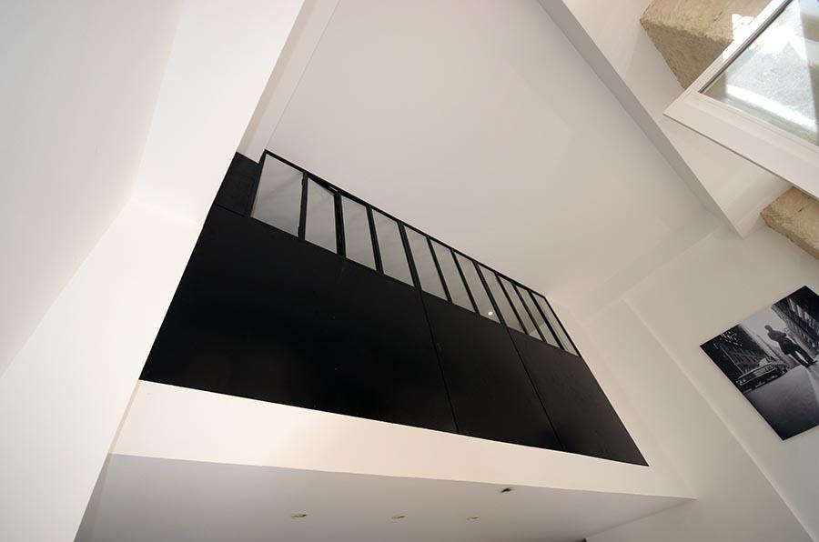 Aménagement d'une chambre en mezzanine à Paris