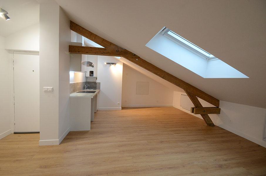 r novation compl te d 39 un appartement sous comble vincennes. Black Bedroom Furniture Sets. Home Design Ideas