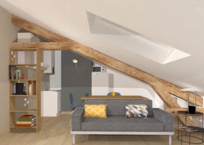 Appartement sous comble en rénovation à Vincennes