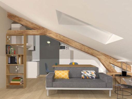 Rénovation complète d'un appartement sous comble à Vincennes