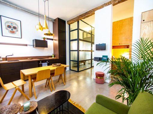 Travaux de rénovation d'un appartement de 36 m2 sur cour à Paris