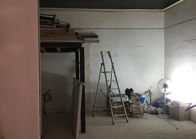 Construction de la mezzanine