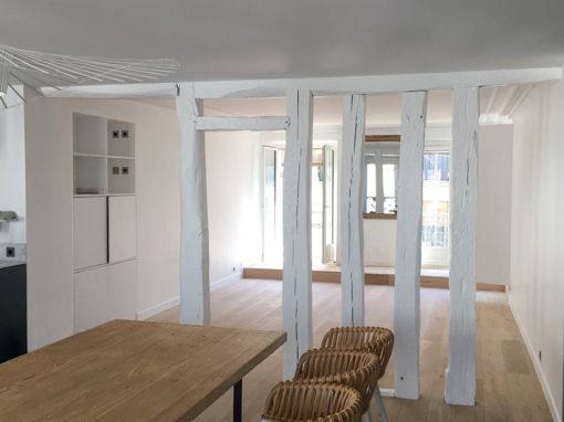 Décoration complète d'un appartement, rue de Trévise à Paris