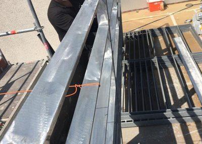 Pose de rambardes acier galvanisé