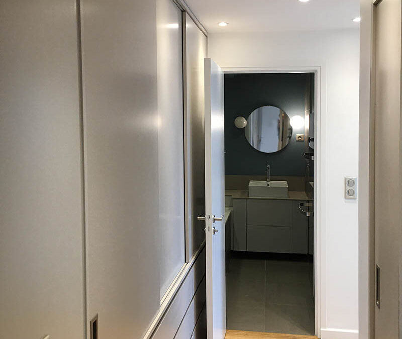 Modifications et décoration d'un appartement à Paris 16e