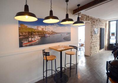 Travaux de peinture dans un restaurant à Paris