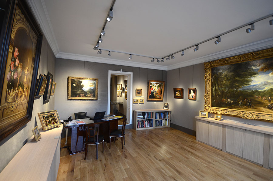 Rénovation d'une galerie d'art à Paris