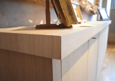 Création de meuble en bois pour galerie