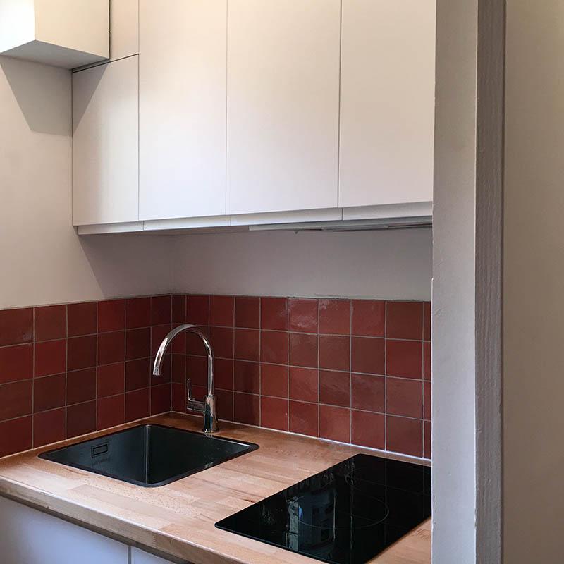 Pose de cuisine dans un appartement à paris