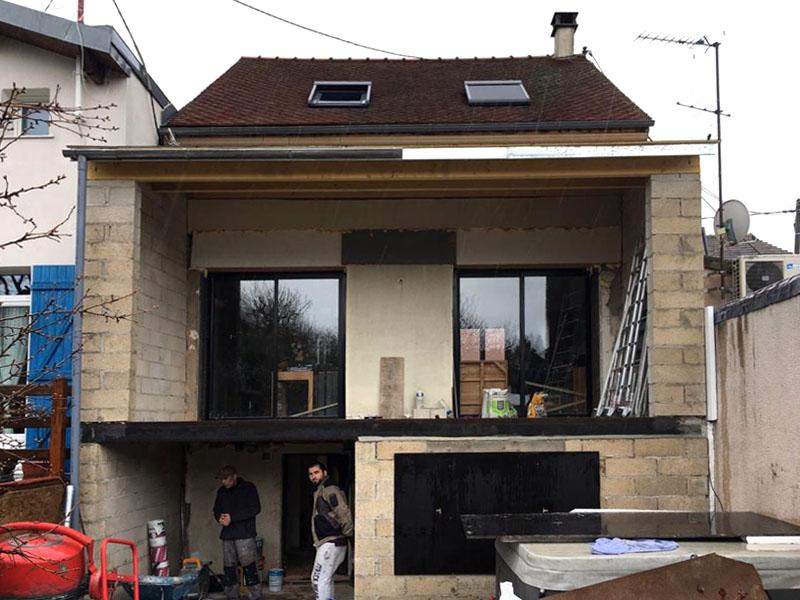 Rénovation et extension d'une maison à Bagneux