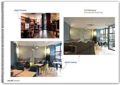 Décoration d'un restaurant à Paris